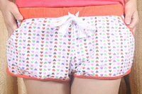 New foreign trade printed , Pure cotton sports leisure hot pants,Household knickers female pyjamas, sport pants, beach pants