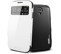 SPIGEN SGP Slim Armor View  Automatic Sleep/Wake Flip Cover leather case for Samsung galaxy s4 i9500 shipping free S0034