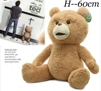 60cm Cute Teddy Bear Plush Dolls Man's Ted High Quality Stuffed Toys Birthday/Christmas Gift Wedding Present Free shipping