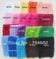 20 color Fashion crochet Tutu Headbands 6 Inch Baby Elastic Headband Free Shipping 6pcs/lot  H015