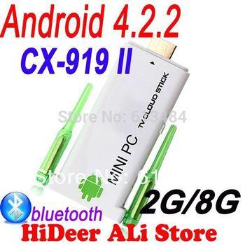CX-919 II Quad core android dual antenna Mini PC 1.8GHz 2GB RAM 8GB ROM Twin WIFi antenna Stronger signal than CX-919