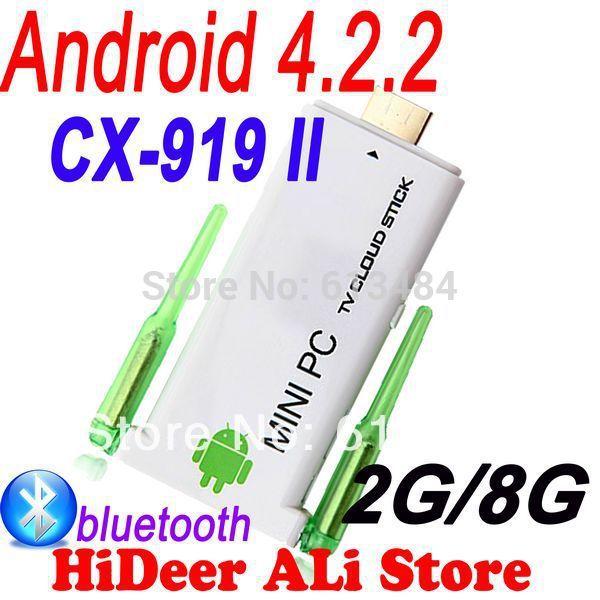 CX-919 II Quad core android dual antenna Mini PC 1.8GHz 2GB RAM 8GB ROM Twin WIFi antenna Stronger signal than CX-919(China (Mainland))