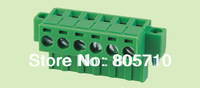 Plug-in Terminal Block ELT2EDGKM-5.08/5.0mm female+male as a pair, with fixed type, 300V/15A,  2-24P Price is 2Pin