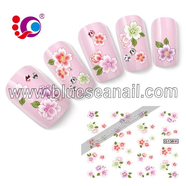 BLUESEA applique flower heat all-match finger stickers nail art g138 bluesea(China (Mainland))