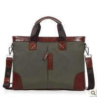 Hot selling Business Fabric bags men messenger bag vintage leather messenger bags for men briefcase d3882-1