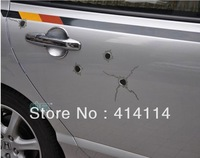 Hot sale 10PCS/LOT NEW Repeating Artificial bullet hole car stickers personalized car bumper sticker Cool Young Free shipping