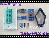 Free shipping V6.0 Russian Manual TL866A+4 adapters+PLCC EXTRACTOR Clip USB Universal Bios programmer ICSP FLASH\EEPROM SOP8