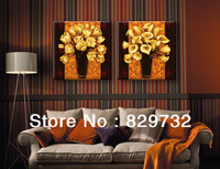 JIUJIU DIY digital oil painting Free shipping unique gift abstract painting 40X80cm Gorgeous bloom Bronzing paint by number
