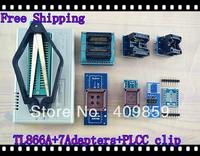 Free shipping V6.0 Russian Manual TL866A+SOP8/28+PLCC32/44+PL clip+SOP8&16 USB Universal Bios programmer ICSP FLASH\EEPROM TSOP