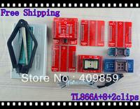 Free shipping V6.0 Russian Manual TL866A+2clips+40A+40B+TSOP32/40/48 USB Universal Bios programmer ICSP FLASH\EEPROM TSOP