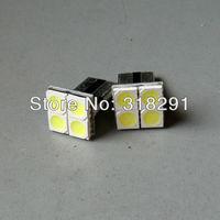 Wholesale 100pcs/lot white T10 194 168 192 W5W 5050 smd 4 led super bright Auto led car  lighting wedge