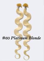 vietnamese Best selling 100% hair nair #60 Platinum Blonde1g/Strand,100 Strand/pack