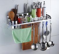Shelf stainless steel kitchen accessories storage rack spice rack hook,kitchen Holder & Storage 60cm N-004