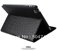 Free Shipping High Quality Black PU Leather Case Skin Cover With Stand  for ipad 3