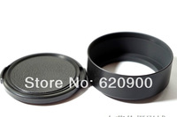 100% GUARANTEE 10X 55mm Standard Screw Mount Metal Lens Hood C+lens cap CAMERA NEW  DSLR
