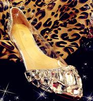 new 2014 luxury white crystal flat women wedding shoes with rhinestone women handmade shoes fashion design crystal shoes @