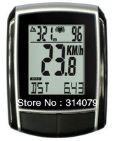 Free Shipping!! 2PC/Lot Wireless Economical Cycle / Bicycle Computer/Speedometer with Speed/Cadence/ Heart Rate/Calorie/KM L