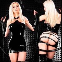 PVC Erotic Crotchless Latex Pole Dance Clothes Dress Lingerie Sexy Body Suits for Women Spandex Black Catsuit
