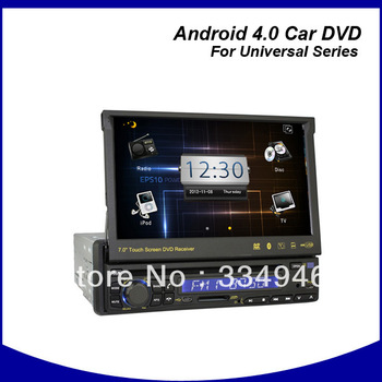 "7"" One Din Android 4.0 Car DVD Car PC GPS System with WIFI/3G);Car radio android 4.0,1 DIN android car DVD,universal android"