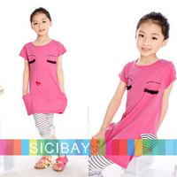 Children Clothes Free Shipping Baby Girl Casual Dress Kids Summer Wear Fashion Dress, EYES Design,  K0379