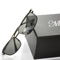 Anti-ultravialot  polarized sunglasses men high quality alloy frame driver glasses(GL45)