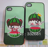 Fast shipping, Cartoon lovers glitter watermelon  for apple   4 phone case iphone4 s phone case apple phone case