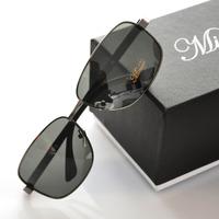 Anti-ultravialot polarized sunglasses men high quality alloy frame driver glasses(GL46)