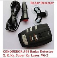 100% original Conqueror A98 radar detector support X-Band ku-band k-band KA-Band Laser VG-2 Free shipping