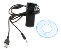 Free shipping 6 leds USB hd camera, PC camera, computer camera, a computer microphone laptop