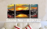 JIUJIU DIY digital oil painting Free shipping the picture unique gift home decoration 60X120cm Mount Fuji paint by number