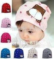 Baby Cap Cotton Dog Print Cap For Baby Boy Girl  Spring Beanie Hats Caps