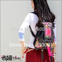 New Designer Genuine Leather School bagpack/Knapsack Travel Ethnic Floral bags women 2013 The Sale