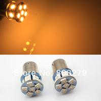 2x 6V 1156 ba15s 12 SMD LED Amber Car Bulb Light Brake/Turn/Tail /Reverse Lamp