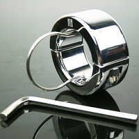 Newest Scrotum Ball Stretcher Stainless Steel Chastity Device Male Adult Product Cock ring