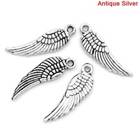 Free Shipping! 50PCs Tibetan Silver Tercel Wing Charms Pendants5*17mm (B00275)