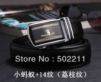 Men strap cowhide strap male genuine leather strap automatic buckle double faced cowhide belt luxury Free shipping 2013 8 model