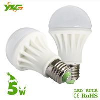Free shipping  wholesale 2pcs/lot 450lm 5w ceramics E27 led bulb