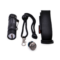 Sunwayman V11R Cree XM-L U2 500LM 3-Mode Flashlight with Clip-Black(1xCR123A/RCR123A/16340)