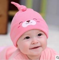 HOT!Spring Autumn baby  Nightcap Newborn baby sleeping cap  Boy girl Infant  hats Cotton beanie  Free shipping A07M26