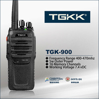 5W walkie talkie with earpiece, TGK-900 professional two way radio