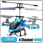 New Toy Blue AVATAR Z008 4CH Mini Metal 4 Channel RC Remote Control Helicopter LED Light GYRO RTF As F103 Free Shipping(China (Mainland))