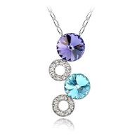 Romantic female fashion short design chain Classic fashion Necklace jewelry Make With Swarovski Elements Crystal Free shipping