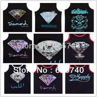 diamond supply co tank tops loose brand new 2014 hip hop tank tops men's top sleeveless vest free shipping hiphop shirt