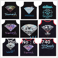 diamond supply co tank tops loose brand new 2014 hip hop tank tops men's top sleeveless vest free shipping hiphop shirt