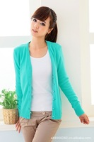 HOT Sale 8 Colors Women Slim Long Sleeve Knitted Cardigan Sweater Free size with free shipping