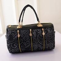 2013 Fashion Women's Handbag Vintage New Fashion Lady Retro Lace Handbag PU (Faux) Leather Designer Crossbody Tote Bag