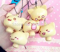 Super Squishy ! New Face Cat Mushroom Squishy Phone Charm / Keychain  Free Shipping