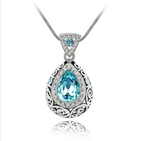 Austria crystal Blue Use Swarovski Elements Crystal Jewelry constellation women vintage chain accessories Classic Free Shipping
