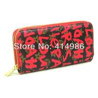 HOT Free shipping 2014 new all-match classic zippers long designer wallet handbag manufacturer price 131173
