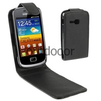 Free Shipping Vertical Flip Holster Phone Case for Samsung Galaxy Mini 2 S6500 Black